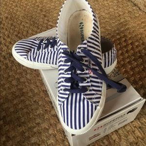 Superga Navy Stripe Sneaks
